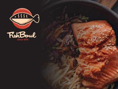 Fish bowl ramen noodle food japanese bowl fish branding brand graphicdesigner graphicdesign logodesigner logodesigns design logo