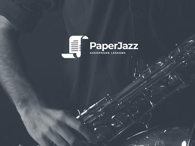 Paperjazz dualmeaninglogo creativelogo logos graphicdesign branding brand vector logodesigner logodesign music logo
