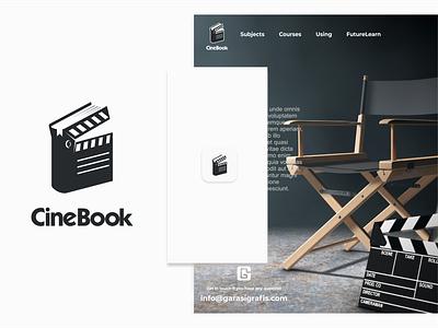 cinebook production company cinema movie branding logodesigner brand doublemeaning logodesigns logodesign animal illustration vector logo