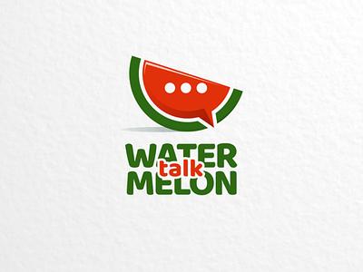 Watermelon talk app applogo vector branding brand logodesigner logodesign logo chatapp chat talk watermelon