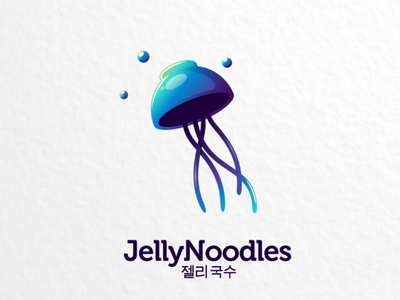 Jelly noodles vector drink companylogo branding brand ramen jellynoodles food logo bowl jelly noodles
