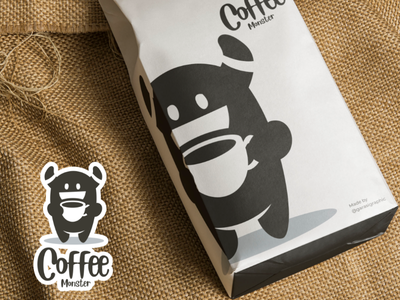 Coffee Monster monster branding brand vector logodesigner logodesign coffee logo