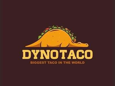 dynotaco dinosaur taco design dualmeaning illustration logodesign logodesigns doublemeaning branding brand vector logo