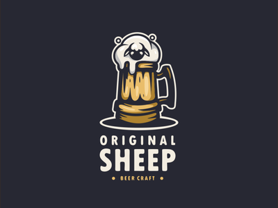 original sheep beer craft design illustration logodesigner branding doublemeaning logodesigns logodesign brand vector logo