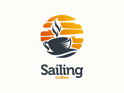 Sailing coffee animal graphicdesigns logodesigner design dualmeaning doublemeaning branding logodesigns logodesign illustration brand vector logo