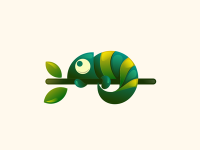 chameleon logodesigner logodesigns graphicdesign animal design logodesign illustration brand vector logo