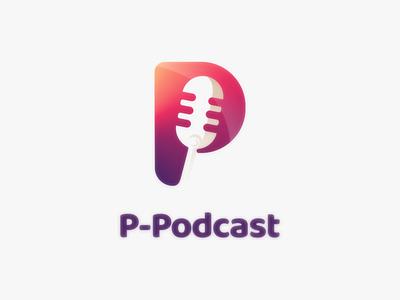 P podcast brand dualmeaning logodesigner doublemeaning design vector logodesigns logodesign illustration logo