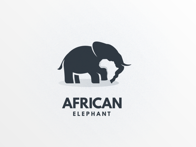 african Elephant elephant africa graphicdesigns dualmeaning illustration logodesign branding logodesigns animal brand vector logo