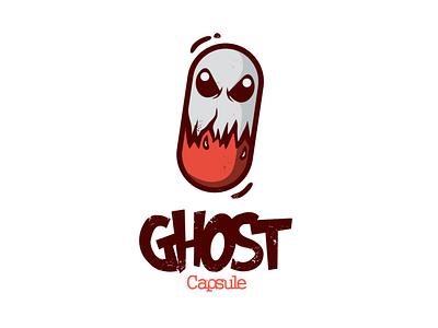 ghost capsule ghost capsule branding design brand dualmeaning doublemeaning logodesigns logodesign illustration vector logo