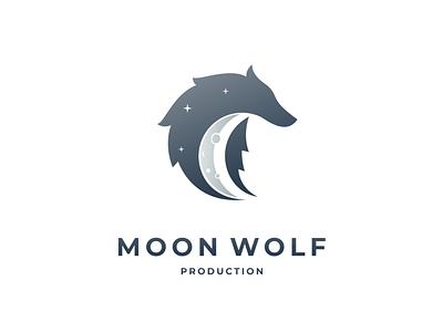moon wolf moon wolf illustration dualmeaning branding logodesigner doublemeaning logodesigns logodesign brand vector logo