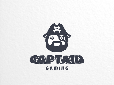 captain Gaming pirate gaming graphicdesign logodesign brand doublemeaning dualmeaning branding logodesigns illustration vector logo
