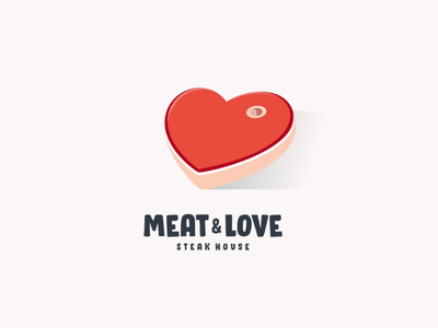 meat & love dualmeaning logodesigner doublemeaning logodesigns design logodesign illustration brand vector logo