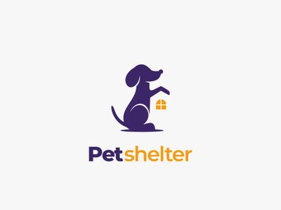 pet shelter brand branding logodesigner logodesigns dualmeaning doublemeaning illustration animal logodesign vector logo