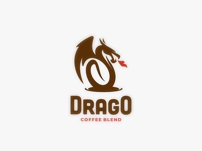 drago coffee coffee dragon logodesign dualmeaning design doublemeaning branding logodesigns illustration brand vector logo
