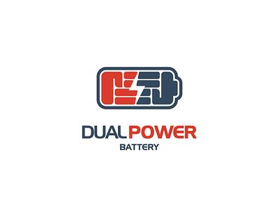 DUAL POWER power battery logodesigner animal brand branding doublemeaning logodesigns design illustration vector logo