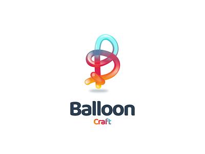 balloon craft balloon brand logodesigner ui dualmeaning logodesign doublemeaning design illustration vector logo