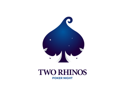 two rhinos poker night poker rhinos graphicdesign dualmeaning logodesign brand doublemeaning logodesigns design illustration vector logo