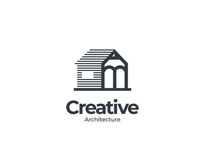 Creative Architecture Logo pencil home architecture ui ux branding logodesigns design logodesign illustration brand vector logo