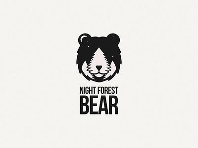 Night forest bear ux branding ui logodesigns design logodesign illustration brand vector logo