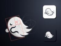 Ghost logo for mobile app
