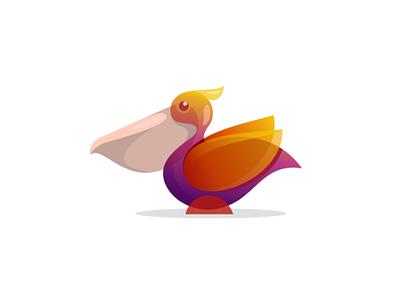 Pelican dribbble logocreation logomaker logotype modernlogos logos logodesigners pelican bird