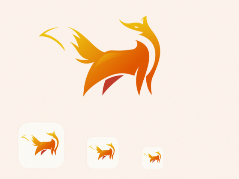 Fox zoo background graphic cartoon mascot art silhouette wildlife vector emblem icon wild symbol sign isolated design illustration animal fox logo