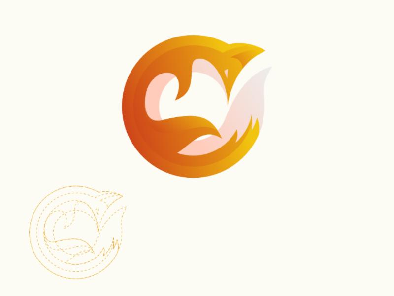Fox colorful inspiration illustration vector brand logo circle animal fox