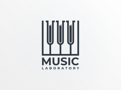Music laboratory doublemeaning companylogo brand vector logodesign logo lab music
