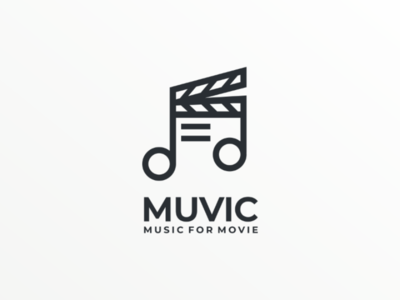 Muvic companylogo meaningful doublemeaning branding brand vector graphicdesign logodesign design logo movie music