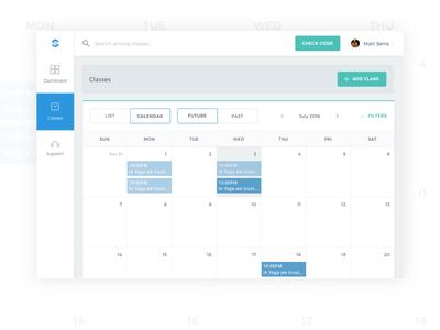Calendar UI | Blacktag