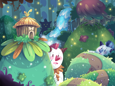 Hide and seek illustrateur colorfull coloré draw drawing dessin illustration mignon monstre cute monster