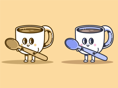 Cute cup of coffee
