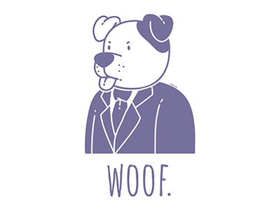 Woof. t-shirt design