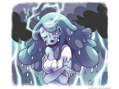 Cloud hair - Rain and thunder