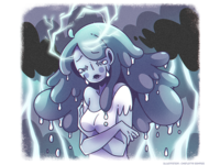 Cloud hair - Rain and thunder