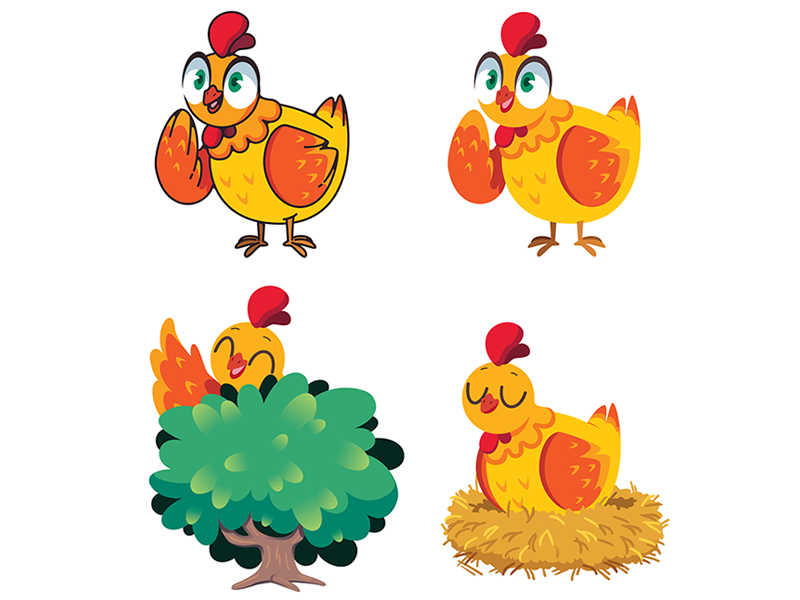 Mascot design cute illustrator drawing dessin mascotte personnage création animal chicken poule character design 2d digital art vector mascot