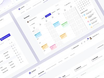 Akonto dashboard b2b sales beauty product schedule calendar beauty header desktop webdesign minimal web ux design clean ui