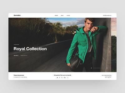 Portfolio concept website web design ui portfolio
