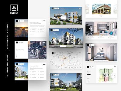 Real Estate - online architecture online project ux ui web ja-sielska estate real