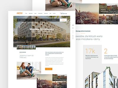 Real Estate Activ architecture apartament web ui design homepage real estate