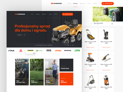 Wikker redesign homepage product store ui designs shop mower
