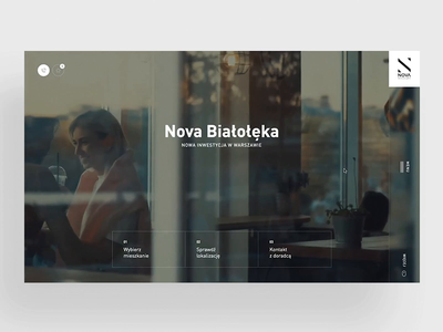 Nova Bialoleka - Real estate webdesign animation header real desktop ux homepage estate clean architecture apartament web ui design