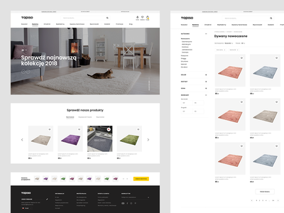 Tapiso Redesign corporate interface minimalist product page webdesign shop online desktop header homepage ux clean web ui design