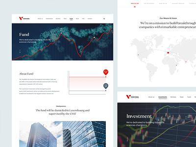 Investment website investment bank fund business switzerland money broker investment header minimal homepage desktop webdesign ux clean web design ui