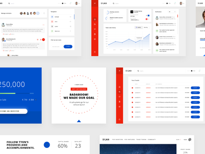 STOKR crypto currency clean ui profile notification web design statistic red transfer comments market dashboad ui ux design clean chart blockchain app