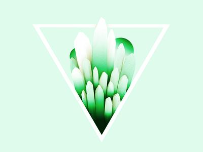 Crystal Quartz minimal green quartz gem crystal c4d abstract 3d