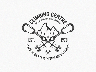 Climbing Centre mountains ice climbing rock climb climbing climb logo badge