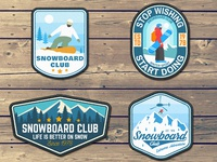 Snowboard Club🏂 patches