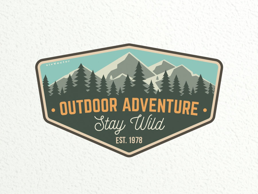 Outdoor Adventure Patch camping mountain vector outdoor adventure patch badge