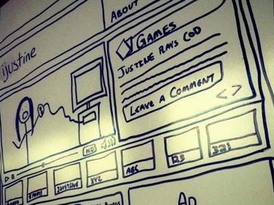 iJustine Wireframe wireframe ux drawing sketch